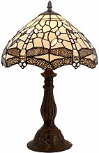 Tiffany Lamp Bedside Lamp Cream Stained Glass