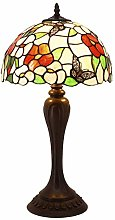 Tiffany Lamp Bedside Pink Stained Glass Butterfly