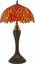 Tiffany Lamp Red Wisteria Style Table Desk Lamp