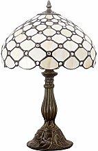 Tiffany Lamp Table Bedside Lamp Cream Amber