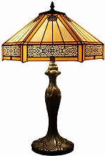 Tiffany Lamp Yellow Hexagon Stained Glass Mission