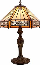 Tiffany Lamps Yellow Hexagon Stained Glass