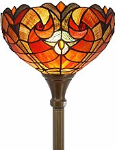 Tiffany Style Floor Lamp Torchiere Up Lighting