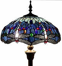 Tiffany Style Floor Standing Lamp W16H64 Inch Tall