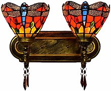 Tiffany Style Lamp For Corridor Pastoral Bedside