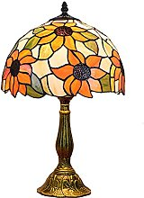Tiffany Style Sunflower Table Lamp, 12 Inch