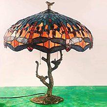 Tiffany Style Table Lamp Desk next to Lamps Orange