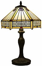 Tiffany Style Table Lamp, Vintage Stained Glass