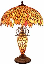 Tiffany Style Table Lamp W16H24 Inch Red Stained