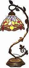 Tiffany Table lamp Banker Stained Glass Lamp,