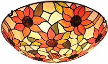Tiffany Table Lamp Bedroom Bedside Table Sun