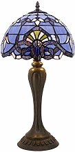 Tiffany Table Lamp Blue Purple Baroque Lavender