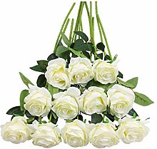 Tifuly 12 PCS Artificial Roses, 19.68''