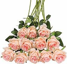 Tifuly 12 PCS Artificial Roses, 19.68''