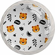 Tiger Animal Crystal Cabinet Knob Knobs for