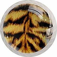 Tiger Animal Drawer Pulls and Knobs Diamond Shaped