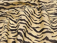 Tiger Animal Print Poly-Cotton Fabric by The Metre