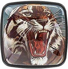Tiger Animal Wild Zoo Nature Cabinet Door Knobs