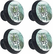 Tiger Art Painting 4 Packs Kitchen Cabinet