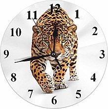Tiger Clock Wild Animal Cat Jaguar Panther Spots