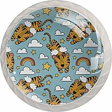 Tiger Design Drawer Round Knobs Cabinet Pull