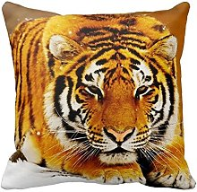 Tiger in the Snow Zippered Pillow Case Home