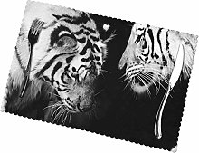 Tiger Printing Placemats for Dining Table Table