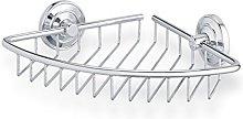 Tiger Shower Basket, Chrome, Silver