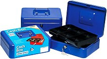 Tiger Stationery Cash Box (25cm) (Blue)