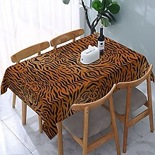 Tiger Tablecloth,Rectangular Fabrics Table Cover