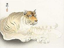 Tiger Watercolour Ohara Koson Large Wall Art Print
