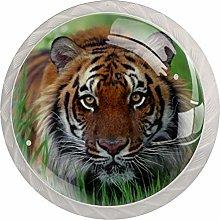 Tiger White Crystal Drawer Handles Furniture Glass