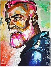 Tiiiytu Colourful Oil Painting Canvas Print