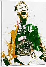 Tiiiytu Conor Mcgregor Painting Canvas Art Poster