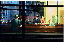 Tiiiytu Edward Hopper: Nighthawks Film Print