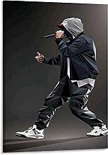 Tiiiytu Hip-Hop Star Eminem Canvas Art Poster And