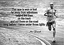 Tiiiytu Mo Farah Inspirational Motivational Quote