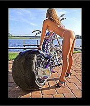 Tiiiytu Motorcycle With Big Curves Posters And
