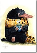 Tiiiytu Niffler Watercolor Art Poster Picture