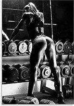 Tiiiytu Women Fitness Bodybuilding Posters Wall