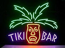 TIKI BAR PARADISE PALM Real Glass Neon Light Sign