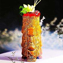 Tiki Mugs Cocktail,Ceramic Hawaiian Party Mugs