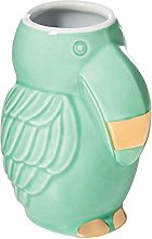 Tiki Party Shot Glass Green and Gold Tropical Bird