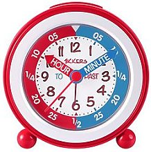 Tikkers Time Teacher Alarm Clock – Red and