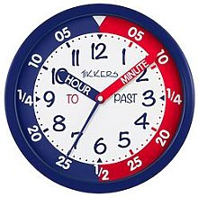 Tikkers Time Teacher Wall Clock &Ndash; Red And