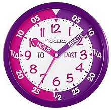 Tikkers Time Teacher Wall Clock – Pink and