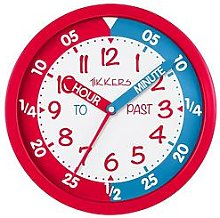 Tikkers Time Teacher Wall Clock – Red and