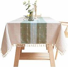TIKNPOL Cotton Table Cover, Linen Stain Resistant