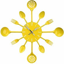 TikTako Cutlery Metal Kitchen Wall Clock Spoon