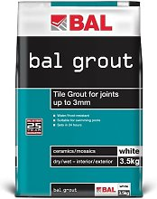 Tile Grout for Joints up to 3mm - White 3.5KG - BAL